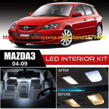 1 12v Xenon White/Blue Package Kit LED Interior Lights For 04-09 Mazda 3
