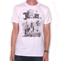Monty Python T shirt Holy Grail White 100% Official Classic UK Comedy TV Tee summer o neck tee, free shipping cheap tee
