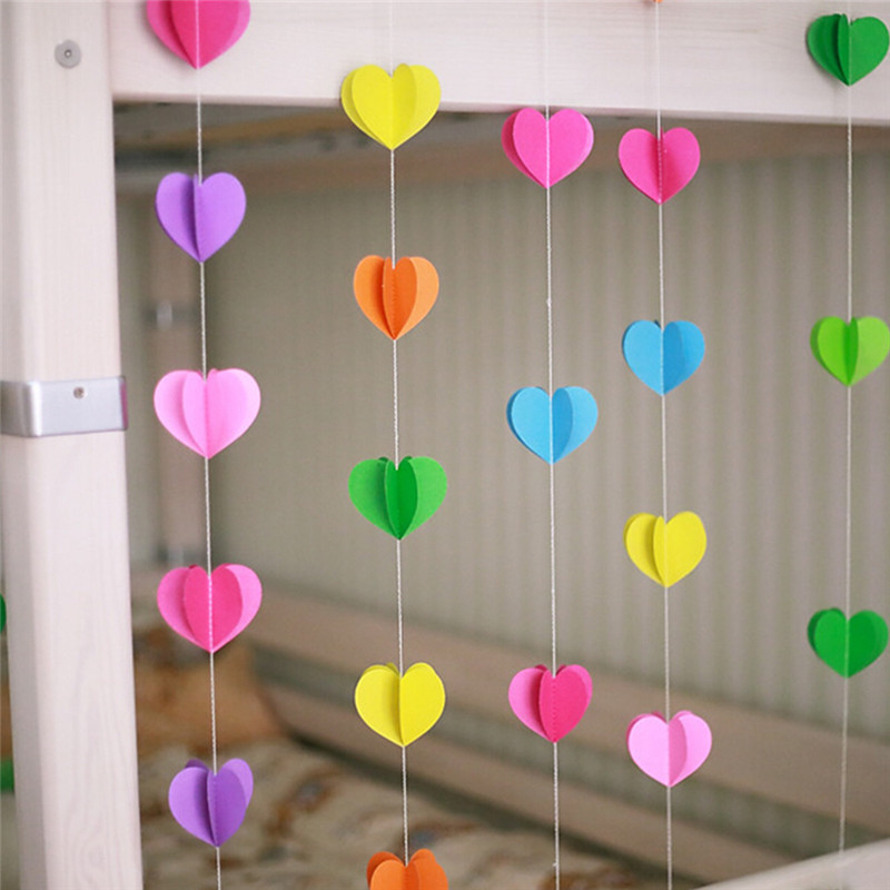 Baby hanging toy heart round shape hanging paper garlands for home baby hanging toy heart round shape hanging paper garlands for home and wedding anniversary decoration garlands flora string in baby rattles mobiles from junglespirit