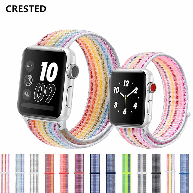 Strap For Apple Watch band 42mm 38mm apple watch 4 3 iwatch band 44mm/40mm correa pulseira Nylon Sport Loop bracelet watchband