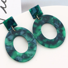 New Fashion Acid Acrylic Resin Earrings Dangle Geometric Oval for Women Long Pendant Party Jewelry Gifts