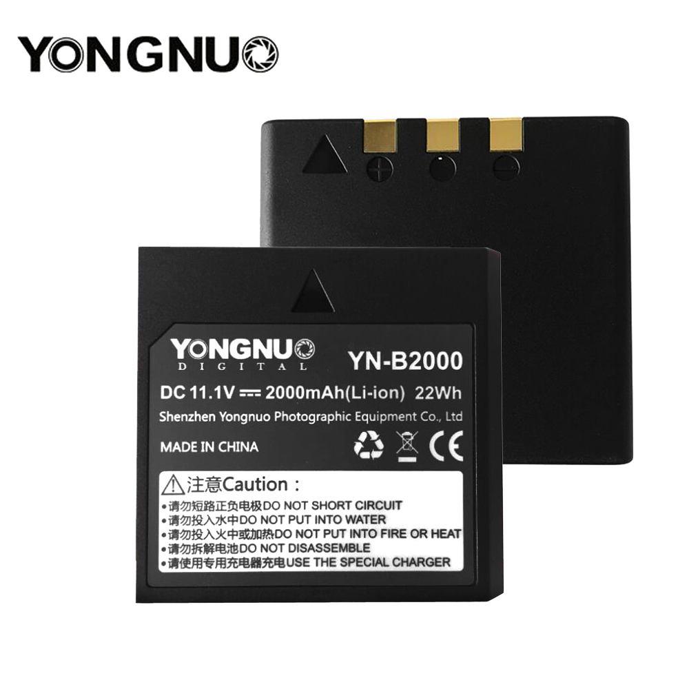 Yongnuo YN-B2000 2000mAh Spare Rechargeable Li-ion Battery For Speedlite YN686EX-RT Flash Light YN686