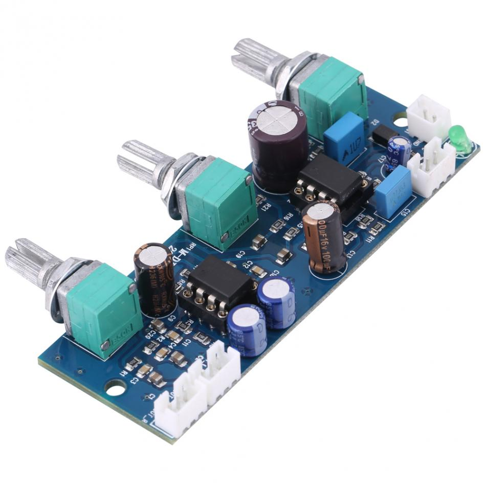 цена на 1pc Low Pass Filter Pre AMP Pre-amplifier Board for 2.1 Channel Subwoofer Subwoofer Filter Hot sale