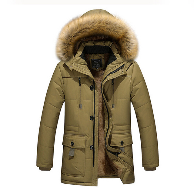 Tamanho M ~ 4XL Frete Grátis 2017 Chegada Nova Moda Masculina Inverno bens tamanho do revestimento do Revestimento de Inverno de Alta Qualidade Jaqueta de Pato Para Baixo 158