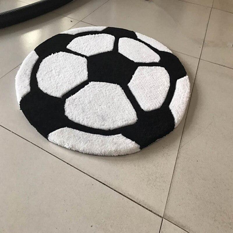 cartoon football carpet boy children livingroom carpet cushion pad thickening round computer rug mat acrylic thick kid play mat