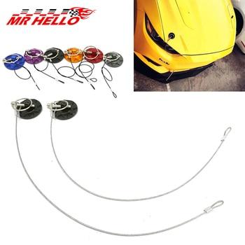 JKdreamer Universal 2pcs Aluminum Racing Car Auto Hood Pin Engine Locks Kit Car Bonnet Hood Lock