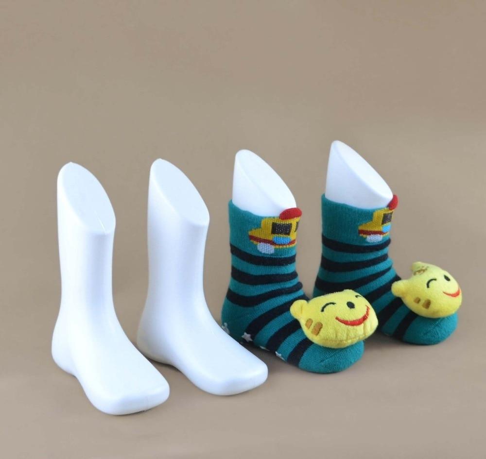 CAMMITEVER Calcetines Maniquí 2Pcs Calcetín de pie blanco Calcetines Escaparate Pies Muñeca Molde femenino Calcetín corto Mujeres Maniquíes Zapato