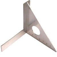 Деревообрабатывающая линейка из нержавеющей стали, квадратная раскладка, треугольник, строп, 45 градусов, 90 градусов, метрический датчик, из...