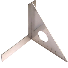 Stainless Steel Woodworking Ruler Square Layout Miter Triangle Rafter 45 Degree 90 Degree Metric Gauge Measuring Tools