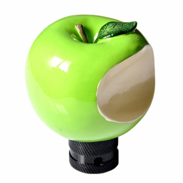 XYIVYG Universal fit Automotive Cool Green Apple Shape Manual Or Automatic MT MOMO  Gear Shift Lever Knob