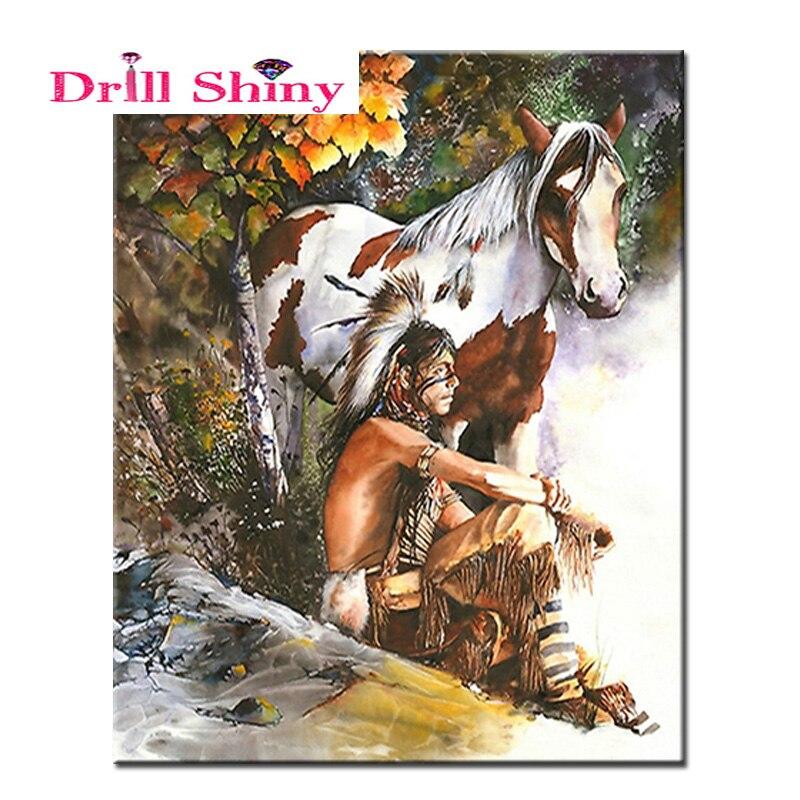 Diamond Painting,Horse,5D,DIY,Needlework,Embroidery,Animal,Cross Stitch,Round Rhinestone,Decoration,Crafts,Room,Fashion,Art