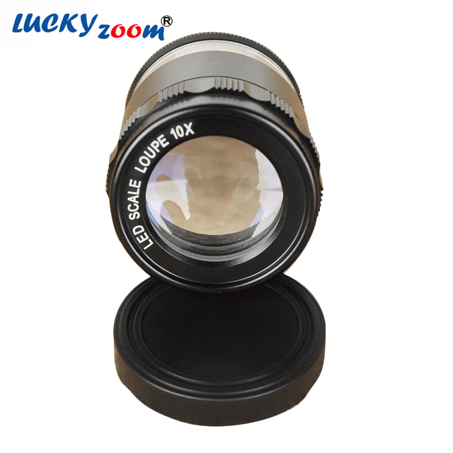 New 8 Led Illuminated Optical Magnifying Lens Abs Glass