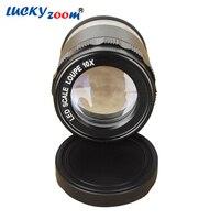 Novo 8 led iluminado lente de ampliação óptica abs vidro 10x zoom lupa riticle escala cilíndrica lupe frete grátis