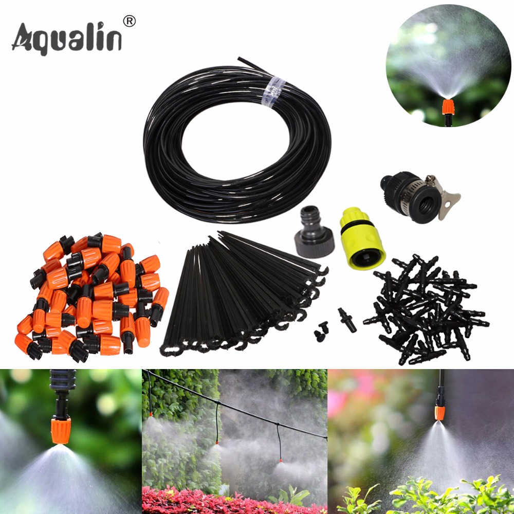 25m Automatic Micro Drip Irrigation System Garden Irrigation Spray Self Watering Kits with Adjustable Dripper #26301-2