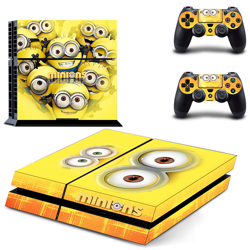 Minions ps4 sticker PS4 Sticker for PS 4 for Playstation4 Console Skin & Controller Protective Stickers
