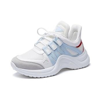 Zapatos Deportivos informales De malla para Mujer, Zapatos Con suela gruesa, Zapatos...
