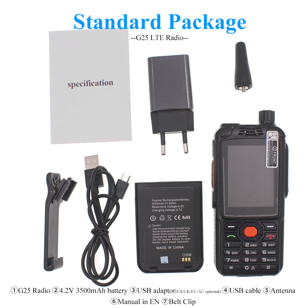 Image 5 - 4G LTE Android Walkie Talkie F25 Poc network Phone Radio Intercom Rugged Smart phone Zello REAL PTT Radio F25Walkie Talkie   -