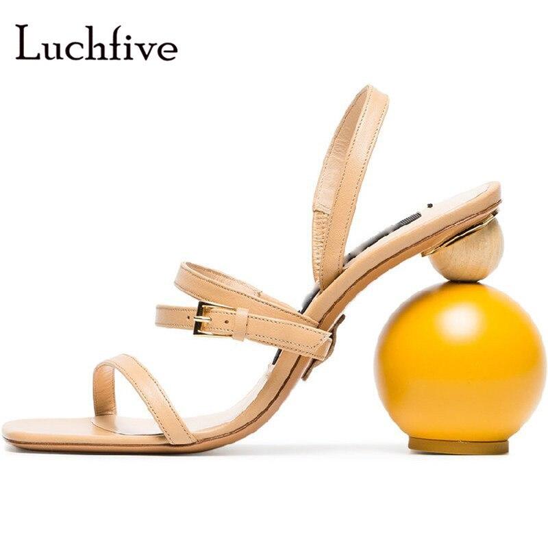 Fashion square toe three belt women sandals buckle strap genuine leather ladies shoes beige black abnormal heels sandalias mujer цена 2017