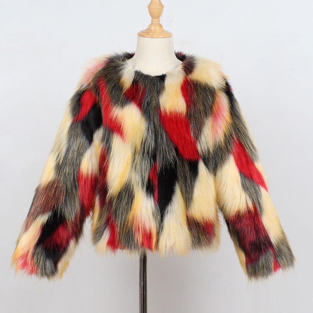 3eb32a558 Chaleco TELOTUNY para niñas bebé niña elegante piel sintética abrigo  cascada invierno ropa de abrigo de piel gruesa x0510