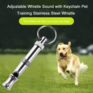 1Pc Hot Pet Dog Training Adjustable Whistle Sound Pet Products For Dog Puppy Dog Whistle Stainless Steel Whistle Key Chain