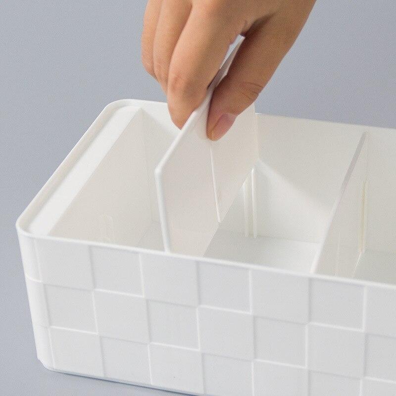 Hoomall 4/5 Grids Plastic Socks Bra Underwear Storage Box Closet Drawer Organizers Container Wardrobe Basket Sundries Container