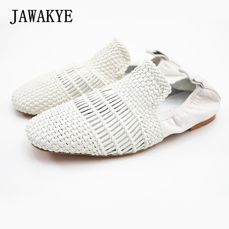 Women Square toe Cut Outs Flat Shoes for Women Comfortable Slip on Air Mesh Summer Loafer Muller Shoes Creepers women s shoes 2017 summer new fashion footwear women s air network flat shoes breathable comfortable casual shoes jdt103