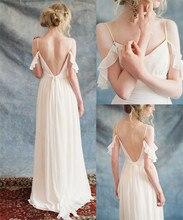 Dama de honor Vestido De Novia Sexy Spaghetti Straps Chiffon Evening Dresses Party Dreses Prom Gowns robe soriee