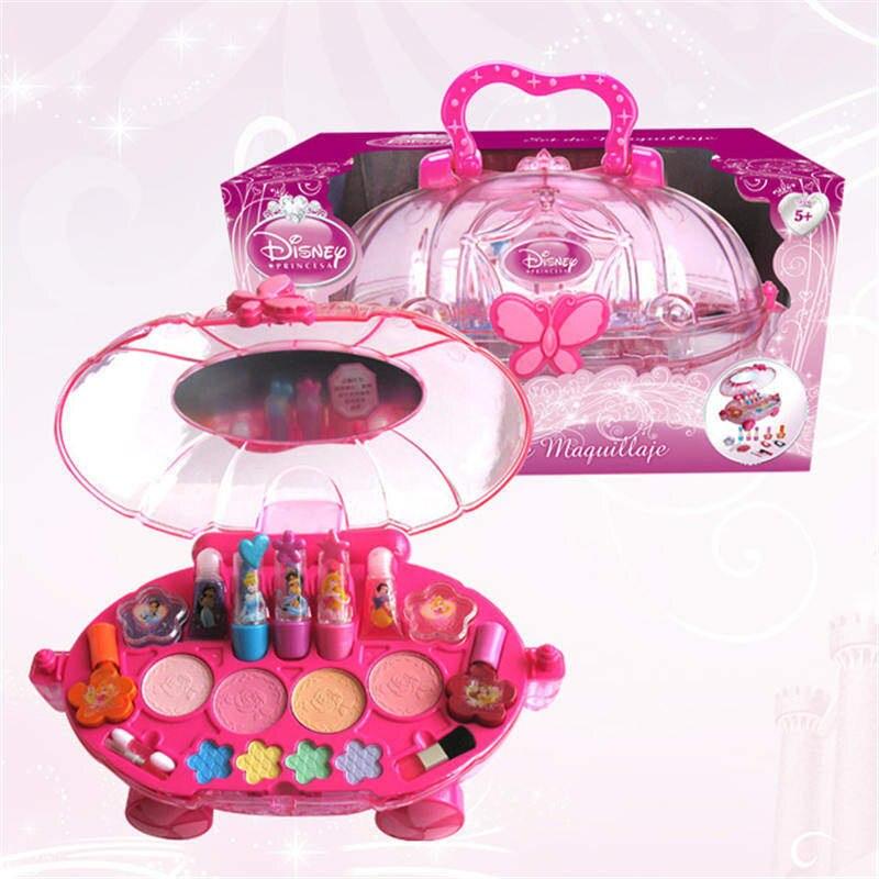 HELLO KITTY, Детская косметика, для девочек, rincess, губная помада, игрушка, сумка для хранения, губная помада, лак для ногтей, набор для макияжа, детс... - 2