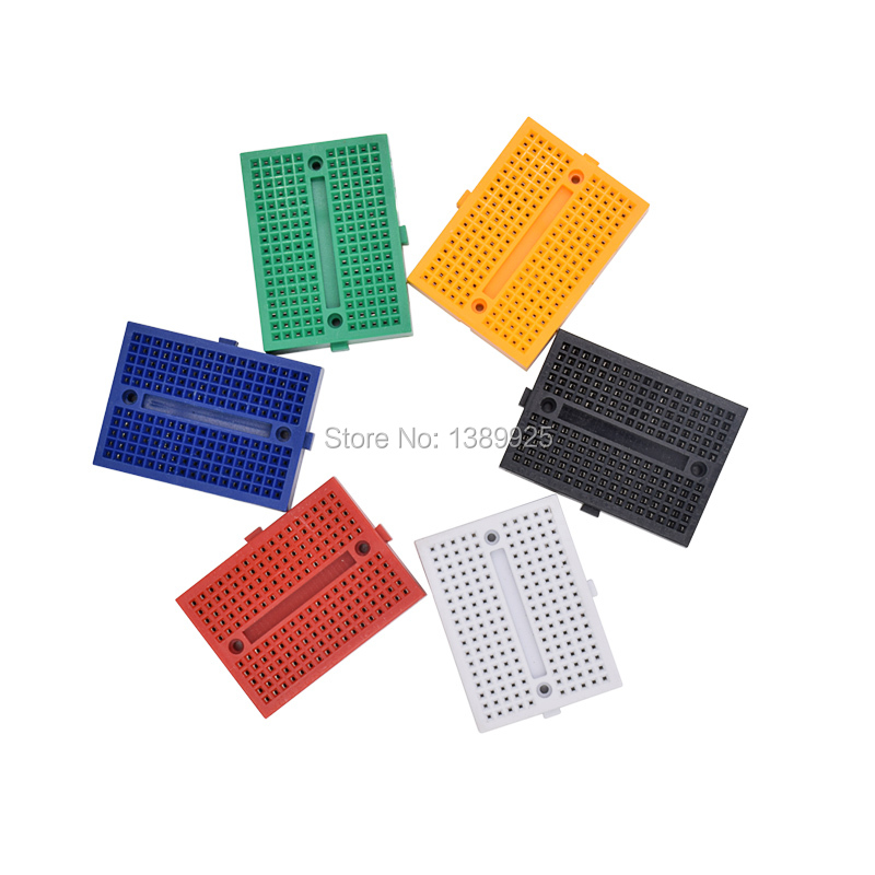 Free Shipping Wholesale 10pcs SYB-170 Mini Solderless Prototype Experiment Test Breadboard 170 Tie-points 35*47*8.5mm