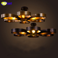 FUMAT American Retro Ceiling Lamp Bar Vintage Industrial Ceiling Light Fixtures Living Room Iluminacion Bedroom Ceiling Lamps