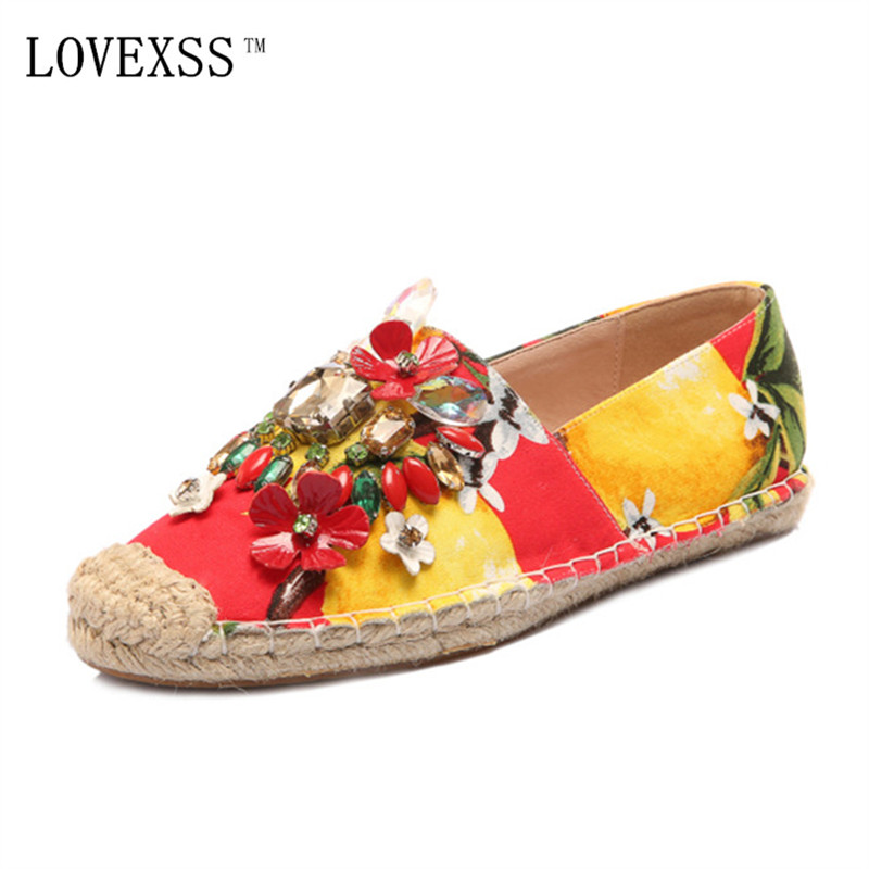 ФОТО LOVEXSS Crystal Loafers Flats Oxford Red Fashion Casual Woman Shoes Shallow Mixed Colors Genuine Leather Flats 2017 Spring