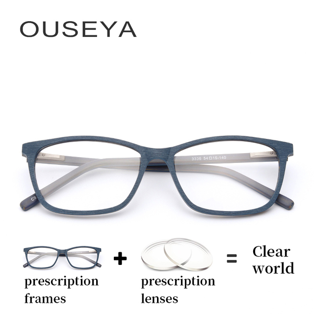 43ee39210cf Acetate Men Glasses With Diopter Anti Blue Light Fashion Photochromic  Hyperopic Thin Myopia Multifocal Eye Glasses  3336