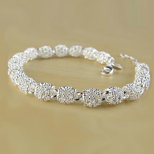 Women 925 Sterling Silver Hollow Chain Bracelet Charm Wrist Bangle Clasp Gift Woman Bracelet Wristband Crystal Bracelets