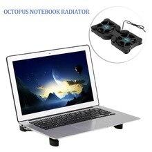 USB двойные вентиляторы Порты и разъёмы мини Портативный Осьминог охлаждающий вентилятор для ноутбука охлаждающая подставка для 14 дюймов ноутбук с светодио дный свет