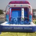 Grado comercial inflable profesional salpicaduras de agua tobogán juego de billar