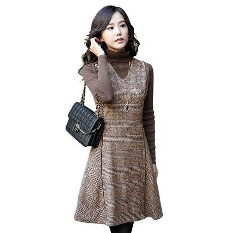 Popular Plaid Jumper Dress-Buy Cheap Plaid Jumper Dress lots from ...