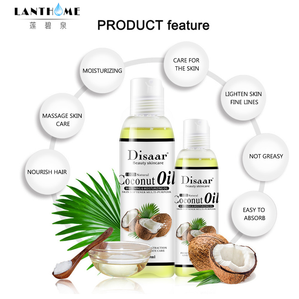 Disaar 100% Natural Organic Virgin Coconut Oil Body and Face Massage Best Skin Care Massage Relaxation Oil Control Product 8