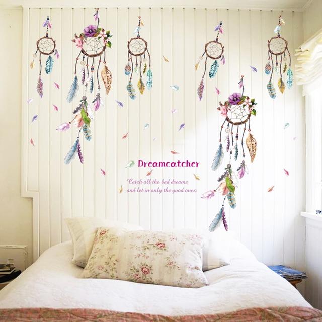 Mural Art Vinyl Decals Home Feather Decor Lucky Dream Catcher Cool Dream Catcher Over Bed