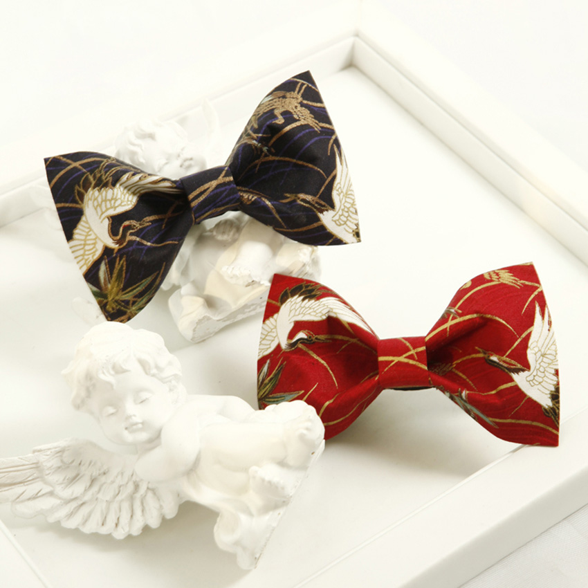 Chinese style groom 39 s bow tie colorful print design polyester Bowtie creative ties for men Shirt necktie cravate pour homme in Men 39 s Ties amp Handkerchiefs from Apparel Accessories