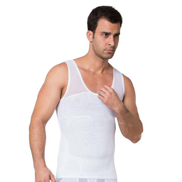 Men Boobs Compression Breathable Gynecomastia Shaper Tummy trimmer Slimming Undershirt Tops Corset Gynecomastia Chest Shaper