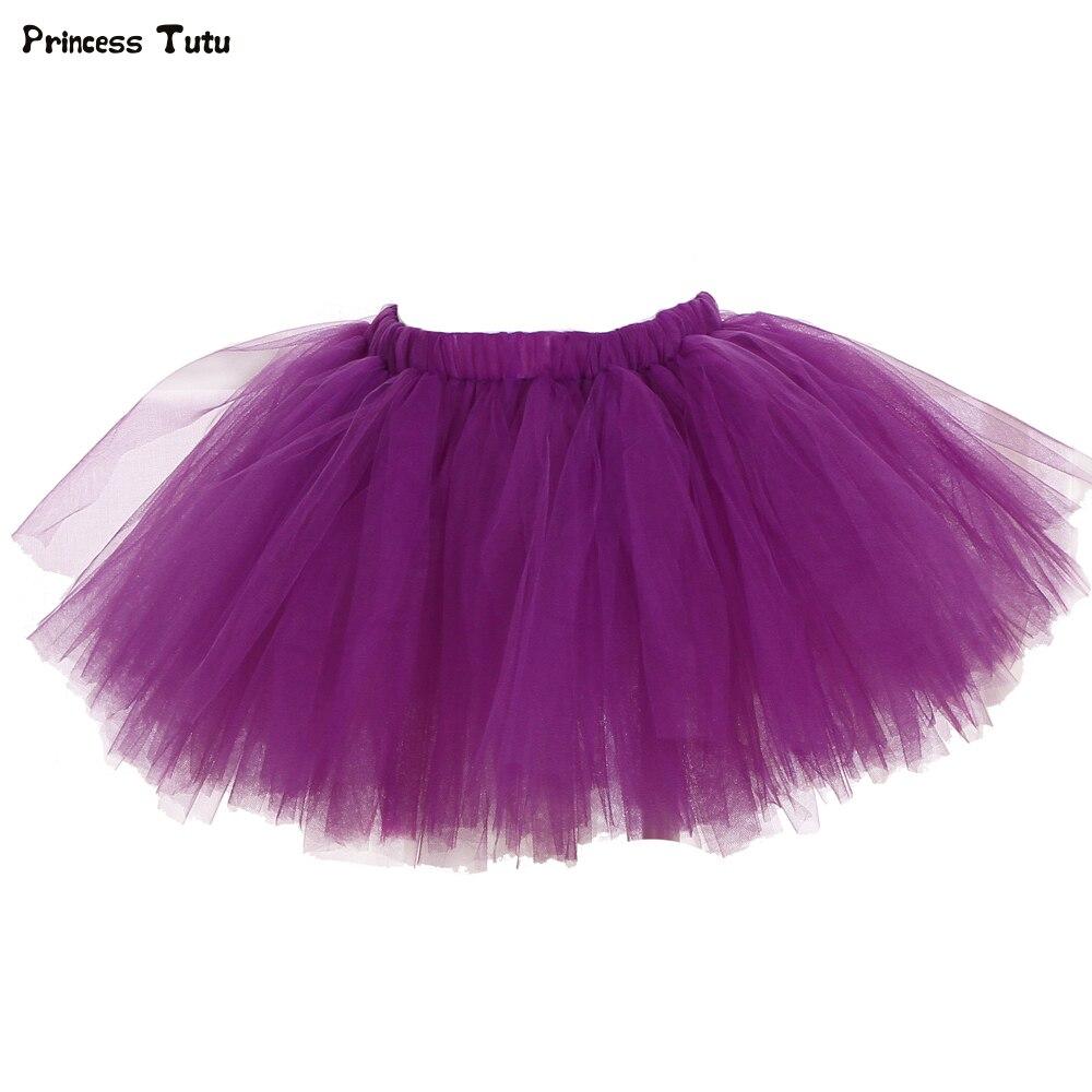 1-8year Kinder Mädchen Tutu Rock Flauschigen Partei Tanz Ballkleid Rock Kinder Einfarbig Weihnachten Halloween Tüll Prinzessin Rock