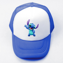 Cartoon Cute Lilo and Stitch Turo Experimental Baseball Cap Men Women Girl Boy Snapback Hat Hip Hop Cap Adjustable Trucker Caps