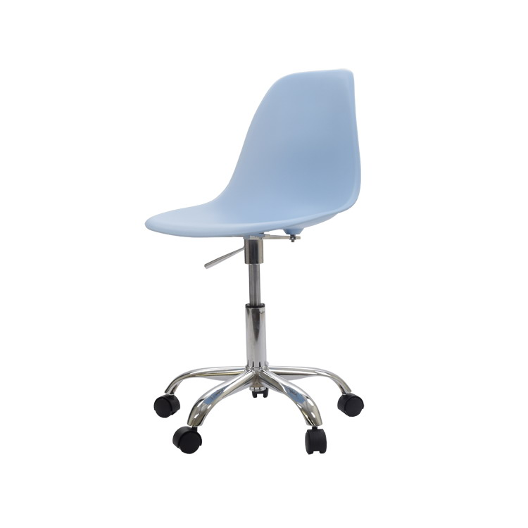 Modern Design Plastic And Steel Swivel Office Computer Chair With 5 Star Wheel Shell Gas Lift In Chairs From