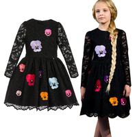 2017 Teenage Girls Dresses Baby Girl Evening Party Dress Children Summer Full Lace Princess Mother Daughter