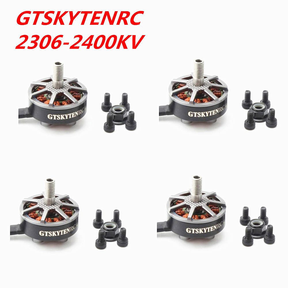 GTSKYTENRC 4 Pieces of 2306 2400kv brushless motors cw ccw for fpv racing drone uva helicopter