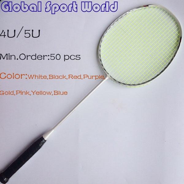 50 Pcs Free Shipping By DHL/UPS OEM 3D Blade N80 Frame Badminton Racquet Racket 4U/5U