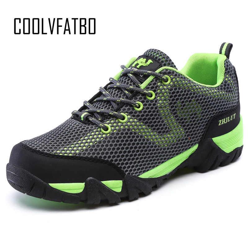 COOLVFATBO/Новинка; Мужская дышащая теплая плюшевая Повседневная модная обувь для снежной погоды; уличные горные мужские кроссовки; размеры 36-47