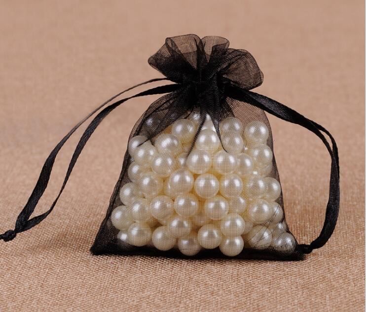 300 шт/партия 24 цвета большая сумочка для украшений из органзы 20x30 см сумка на шнурке Свадебные/вечерние украшения Подарочный мешочек для украшений упаковочная сумка - Цвет: black