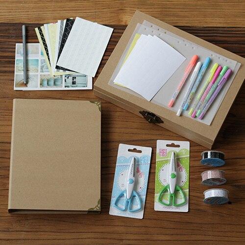Nouveau paquet de accessoires à créer soi-même pour ordinateur portable à feuilles mobiles 9 trous manuel style Zigzag pliant noir et artisanat cartes Album cadres photo