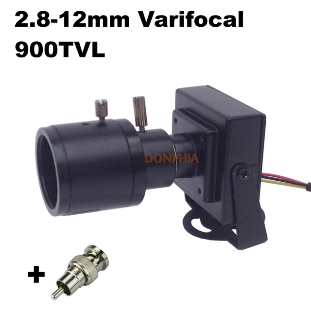 900tvl Varifocal Lens Mini Camera 2.8-12mm Adjustable Lens 1/4''CMOS Sensor Home Security System Surveillance CCTV Camera